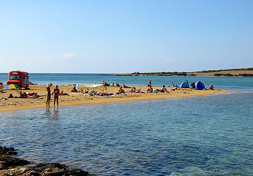 Nudist beach på Antiparos.