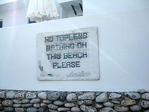 escorte ro topless på stranden